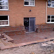 Brick Deck with Drain